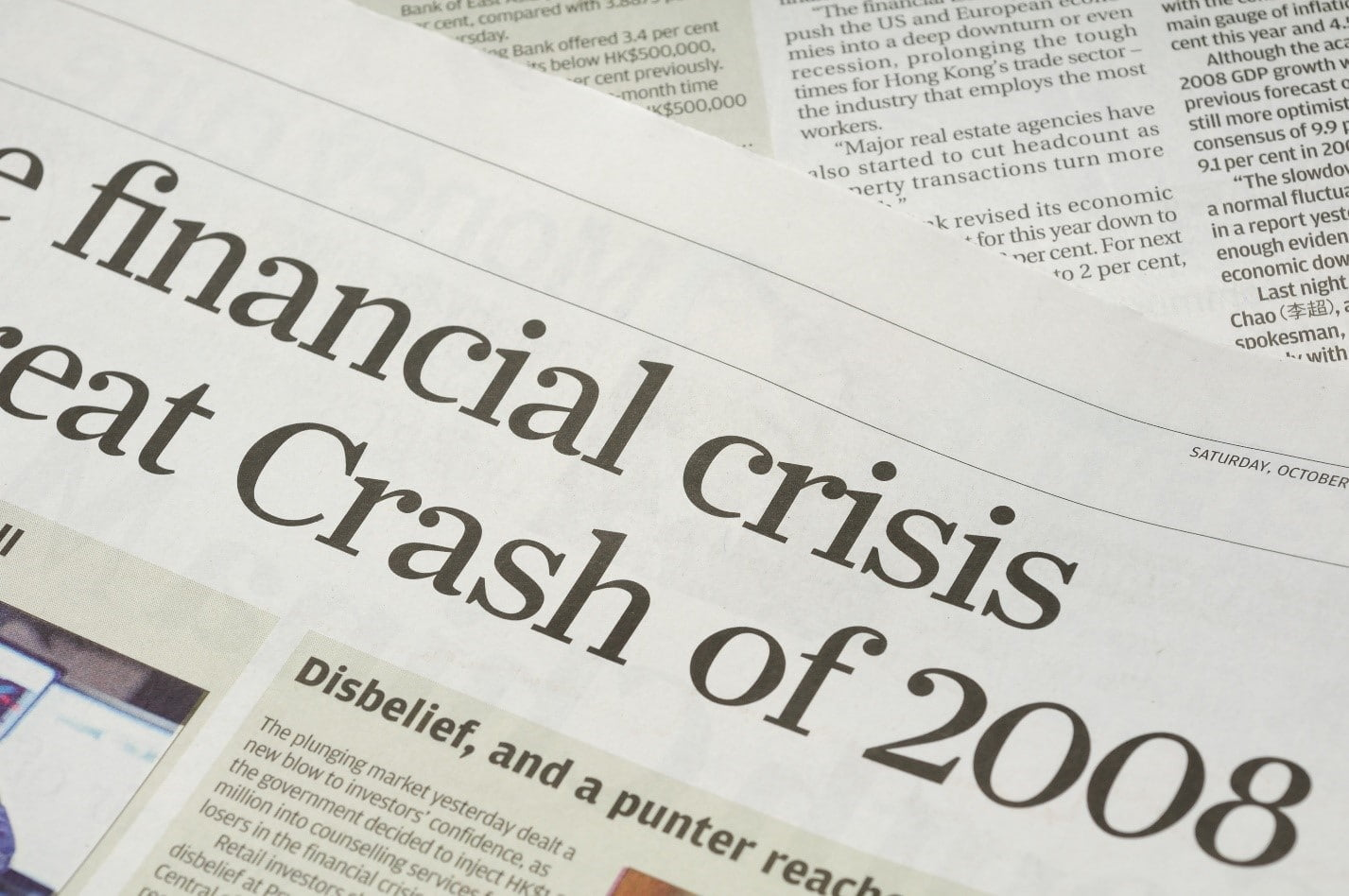 newspaper clip showing financial crisis of 2008 and home rental market
