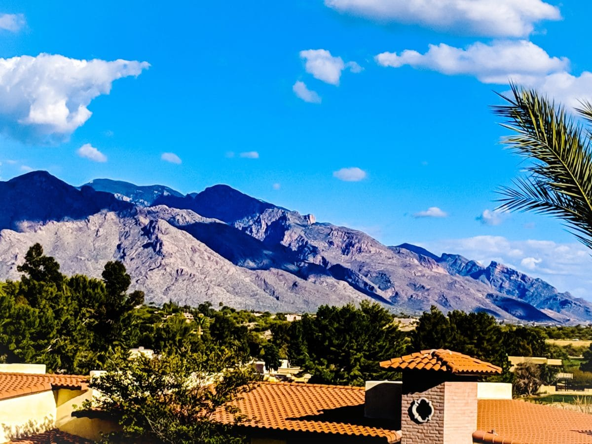 View of the mountains in Tucson, Arizona